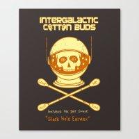 Intergalactic Cotton Buds Canvas Print