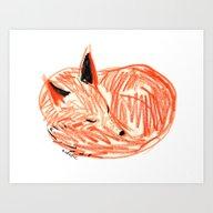 Art Print featuring Fox by Rubyetc