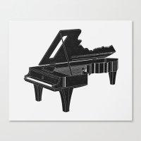 Canvas Print featuring Music Is The Key B by Matt Leyen