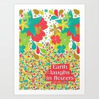 Earth laughs in flowers Art Print
