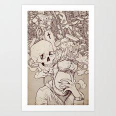 Self Destructive Personality Art Print