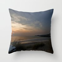 Woolacombe Bay Throw Pillow