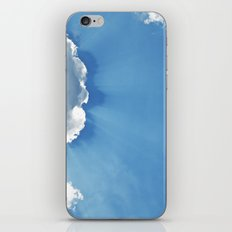 Sun rays behind Clouds iPhone & iPod Skin