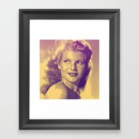 Rita Hayworth Framed Art Print