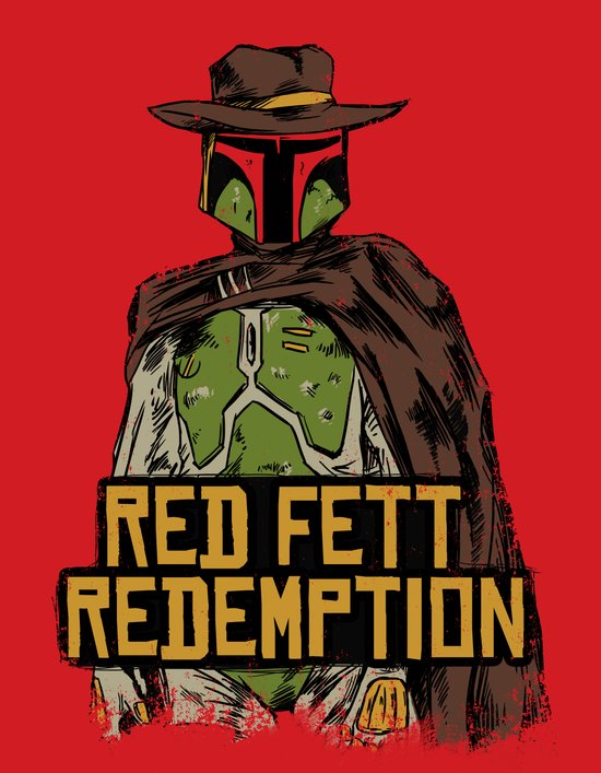 Red Fett Redemption Art Print