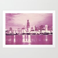 Pink Chicago Art Print