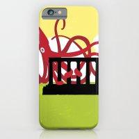 Giant Squid Attacks Edinburgh's Acropolis iPhone 6 Slim Case