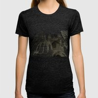 Rouen Facade Womens Fitted Tee Tri-Black SMALL
