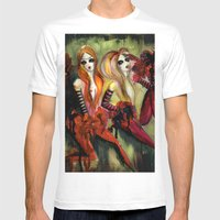 Twins 1 Of 3 Mens Fitted Tee White SMALL