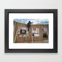 Indoor/Outdoor Carpentering Framed Art Print