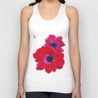 Velvet Red Poppy Anemone I Unisex Tank Top