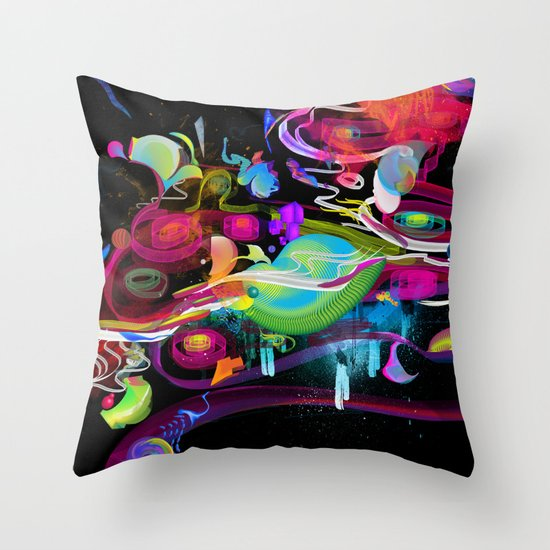 Bottle Full of Wonder Tree Oil Throw Pillow