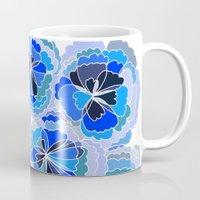 Floral Blue Mug