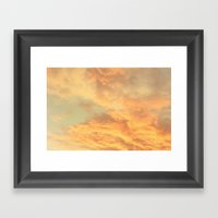 Vintage Clouds  Framed Art Print