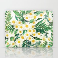 Textured Vintage Daisy and Fern Pattern  Laptop & iPad Skin