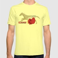 Django Unchained Mens Fitted Tee Lemon SMALL