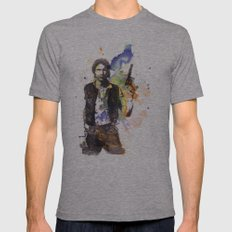 Han Solo From Star Wars  Mens Fitted Tee Athletic Grey SMALL
