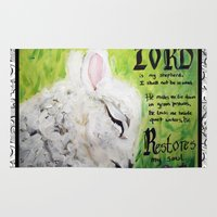 The Lord Restores Psalm 23 Rug