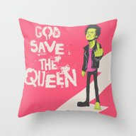 Save The Queen Throw Pillow