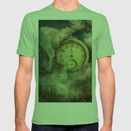 Sometimes Mens Fitted Tee Grass SMALL