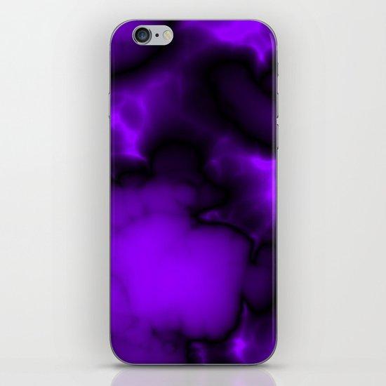 Purple and black  iPhone & iPod Skin
