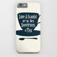 Love & Scandal are the Best Sweeteners of Tea iPhone 6 Slim Case
