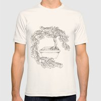 Ginkgo Tree Mens Fitted Tee Natural SMALL