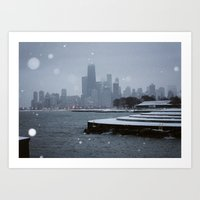 Chicago In The Snow Art Print