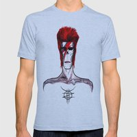 Zed Mercury, 'Aladdin Sane' Bowie tribute Mens Fitted Tee Athletic Blue SMALL
