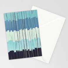 Blue Stripes Abstract Stationery Cards