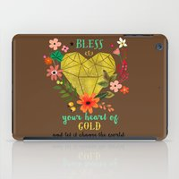 Bless your Heart of Gold iPad Case
