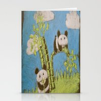 Cute Pandas Stationery Cards