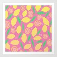 Pink Lemonade Art Print