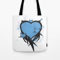 Art Poster Blue Tote Bag