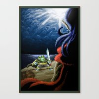 Pixel Art Series 2 : Fig… Canvas Print