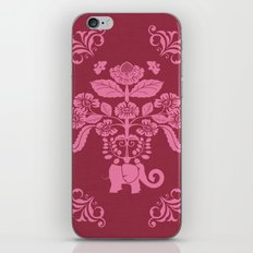 Elephants in my Garden in Berry and Pink iPhone & iPod Skin
