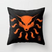 9 Tailed Beast Throw Pillow