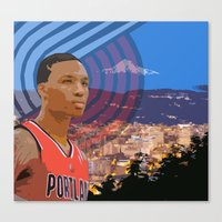 Portland TrailBlazers Damian Lillard   Canvas Print