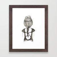 Cat Girl Framed Art Print