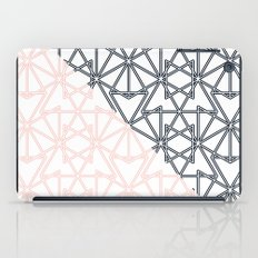 Black and Pink Crop Symmetry iPad Case