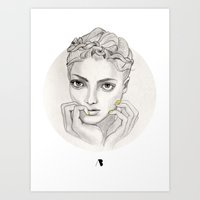 MY FAIR BRAIDY // CIRCLE Art Print