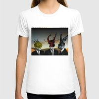 Die drei Minister Womens Fitted Tee White SMALL
