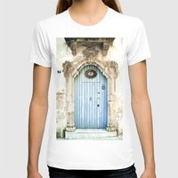 Blue door Womens Fitted Tee White SMALL