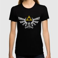 Zelda Hyrule Womens Fitted Tee Black MEDIUM