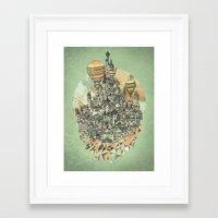 Framed Art Print featuring Emerald City by David Fleck