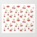 Cherries series Art Print
