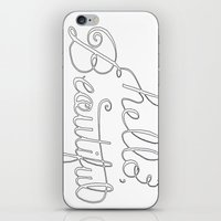 Hello beautiful quote hand-lettered iPhone & iPod Skin