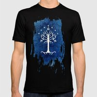 The White Tree Mens Fitted Tee Black SMALL