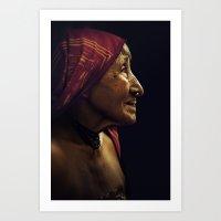 KUNA WOMAN. Panama. Art Print