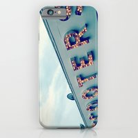 iPhone & iPod Case featuring Scooters ~ vintage carnival sign ~ lights by helene smith photography